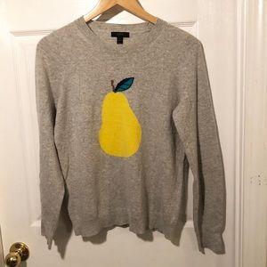 J. Crew Pear Graphic Sweater